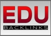 Create 300 EDU Backlinks For Your Website, Google Love Edu Links and give your great SERP