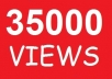 give you guaranteed 35,000 youtube views to your youtube video, all views delivered within 15 days