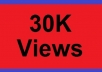 give you guaranteed 30,000+ fast youtube views