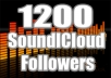 end you 1200++ real looking SOUNDCLOUD followers and 2000 plays to your recent track  extremely fast to your SoundCloud Account without password within 24 hours