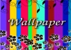 design an awesome wallpaper