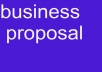 write a business proposal
