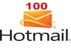 give you 100 fresh hotmail accounts