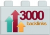 create 3000 backlinks and ping your domain url or blog