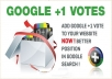 deliver 200 Google plus votes or share on 2 URL blog, YouTube videos every link will get 100 votes