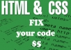 remove your HTML/CSS bugs and errors only