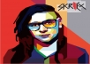 Draw of you Potrait in WPAP fast