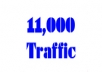 deliver 11000 traffic hits to your website