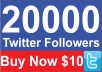 Add 20,000 High Quality Real looking Twitter followers