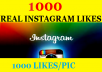 give you 1000 REAL Instagram Likes at 1000 Real Likes/1pic