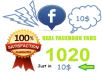 add 1020 100% real fans to your facebook page