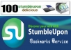 do social BOOKMARKING 40 stumbleupon, 60 Delicious for your site