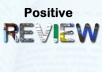 give a positive review for your website, video or app