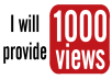 give your YouTube Video Over 1000+ Unique Real Views