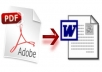 create 1000 pages of PDF to MS WORD
