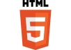 send you Top 96 eBooks about HTML5 web design