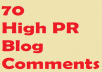 do 70 Penguin And Panda safe blog comments 5xPR5 15xPR4 25xPR3 and 25xPR2 on Dofollow sites