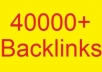 create 40000+ GUARANTEED backlinks for your website and deliver proof