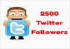 add 2500 Real Active twitter Followers No Fake all Are active without your Passward In Just 24 hours