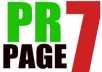 create 2xPR7 + 4xPR6 backlink low obl of high quality on actual page rank