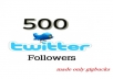 get 500 target HIGH QUALITY Twitter Followers In Less than 24 hours To Increase Your Followers Count Without Password