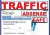 send 100000 Adsense Safe Visitors to your Website/blogs only