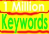 give you 1 million targeted keywords
