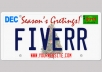 I will create Unique Custom High Quality Christmas License Plates Grahics