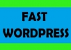 fastly install wordpress for you