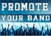 promote your band, artist or music project to over 100,000 mainly uk/ie/usa facebook music fans