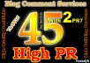 do Manual 45 Highpr Backlinks 2PR7 4Pr6 9Pr5 10Pr4 10 Pr3 10 PR2 Blog Comment Dofollow on Actual Page