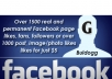 bring over 1500 facebook permanent likes, followers or over 1000 post/image/photo likes