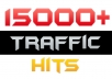 send 15000 Worldwide traffic hits to your website/blog/fanpage