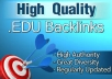 create 20 .edu backlinks manually and send you the list