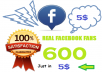 get you 600 Genuine Facebook Fans on your Facebook page