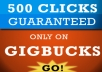 provide 500 real human CLICKS to your website, blog or affiliate link plz read the description before placing your order
