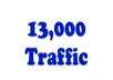 deliver 13000 traffic to your website