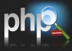 do PHP development for your website