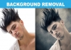 remove delete any unwanted background image from your photo graphic image