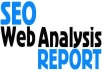 create a Full on page SEO report for any keyword, domain and url