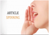 spin up to 10 article using the most advance spinner on the planet