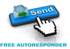 show you where to get free professional autoresponder, sending limit upto twelve thousand email per month