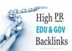 give you a package of Edu and Gov blogs list for getting backlink