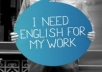 review any professional document in English for non-native speakers
