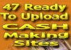 SEND YOU 47 Fully Loaded money making Affiliate websites which sale the Hotest Clickbank Products(ORDER 1 GIG,GET 1 GIG FREE)