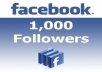 give you 1000+ REAL HUMAN not fake Facebook Profile Subscribers Followers in 24 hours