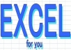 do any job in Microsoft Excel with experience