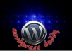 design,install,customize a WORDPRESS blog,plugin