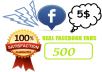 get you 500 Genuine Facebook Fans on your Facebook page