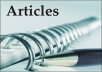 Write four 300 Words Articles on any topic